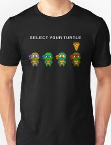 Select Your Turtle (Raphael) - TMNT Pixel Art T-Shirt