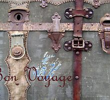 Bon Voyage Steamer Trunk Card by DesignsByDeb