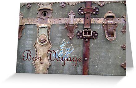 Bon Voyage Steamer Trunk Card by DesignsByDeb