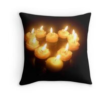 Burning Heart Throw Pillow