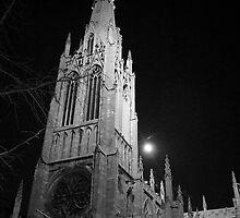 Grace Church Full Moon by Judith Oppenheimer
