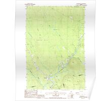 Maine USGS Historical Map Wytopitlock 103128 1988 24000 Poster