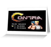 Contra - NES Greeting Card