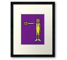 8Bit Kobe Bryant Framed Print