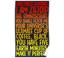 Greetings Humans! Red Yellow Poster
