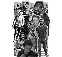 Shia Labeouf B&W Collage Photographic Print
