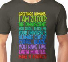 Greetings Humans! Colour Unisex T-Shirt