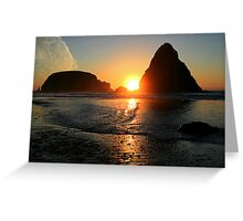 Sunset at Whalehead Greeting Card