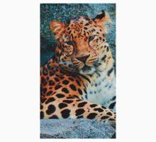 Amur Leopard ~ A Solemn Portrait Kids Clothes