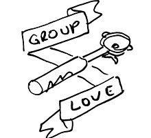 Group Love - Free Draw - Black and White Edition - Back Panel by strangerandfict