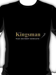 Kingsman Title Gold Umbrella Right T-Shirt