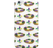 King Cake and Fleur de Lis Pattern iPhone Case/Skin