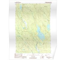 Maine USGS Historical Map Wytopitlock Lake 103127 1989 24000 Poster