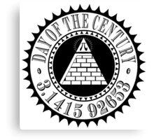 Pyramid Pi Day of the Century Illuminati Canvas Print