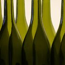 Wine Bottles by Barbara  Brown