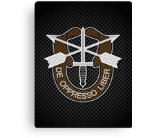 Carbon Special Forces Logo iPhone / Samsung Galaxy Case Canvas Print