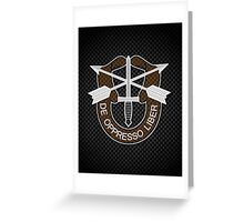 Carbon Special Forces Logo iPhone / Samsung Galaxy Case Greeting Card