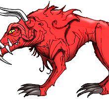 HELL HOUND by wickedcartoons