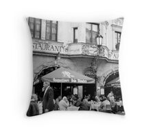 Life Outside the Augustiner Throw Pillow