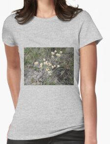 Wild flower in field Womens Fitted T-Shirt