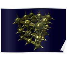 Cubenoid rocket Poster