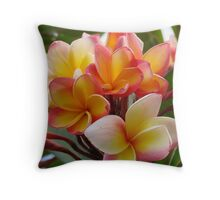 Fragrant Frangapani Bloom Throw Pillow