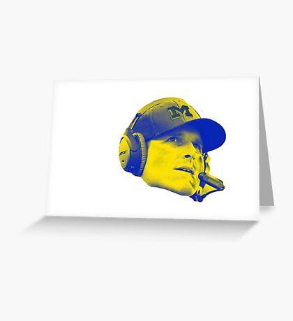 Jim Harbaugh Greeting Card