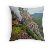 Mountain Top Train Ride Throw Pillow