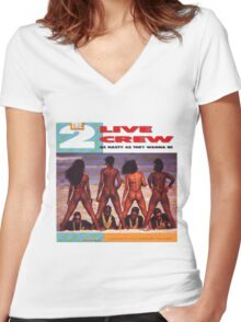 2 Live Crew Women's Fitted V-Neck T-Shirt