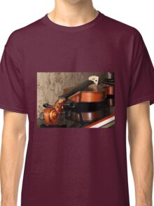 Violin Scroll, Bridge and Tuning Pegs Classic T-Shirt