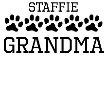 Staffie Grandma by kwg2200