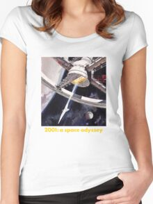 2001 a space odyssey Women's Fitted Scoop T-Shirt