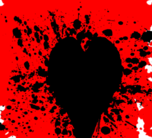Splattered Black Heart Sticker
