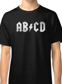 AB/CD (white on black) Classic T-Shirt