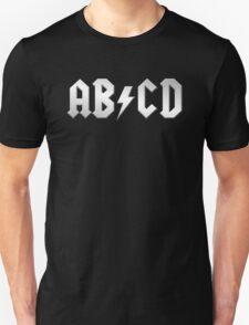 AB/CD (white on black) T-Shirt