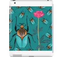 bugs and flower blue iPad Case/Skin