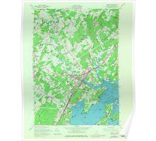 Maine USGS Historical Map Yarmouth 807333 1957 24000 Poster