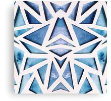 Blue Geo Paper Cut Canvas Print