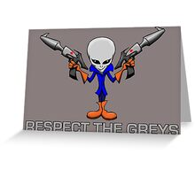 RESPECT THE GREYS Greeting Card
