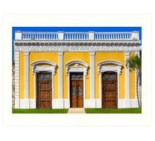 Ornate Doors Of Colorful Mérida Mexico Art Print