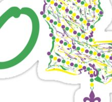 NOLA mardi gras beads 2 Sticker
