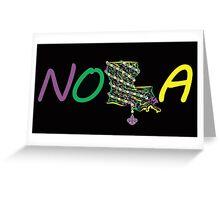 NOLA mardi gras beads 2 Greeting Card