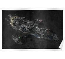 Firefly Serenity Ship Typography Poster