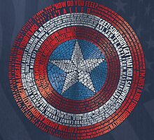 Captain America Typography Art by SkahfeeStudios
