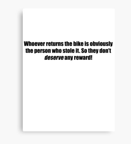 Pee-Wee Herman - Obviously The Person Who Stole it - Black Font Canvas Print