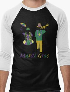 Carnival Time (Mardi Gras) Men's Baseball ¾ T-Shirt