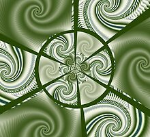 Composition with green spirals by CanDuCreations