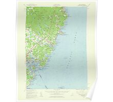 Maine USGS Historical Map York 306859 1956 62500 Poster