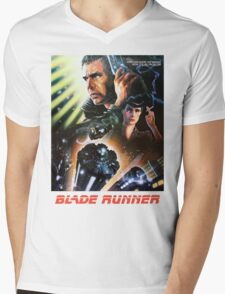 Blade Runner Movie Shirt! Mens V-Neck T-Shirt