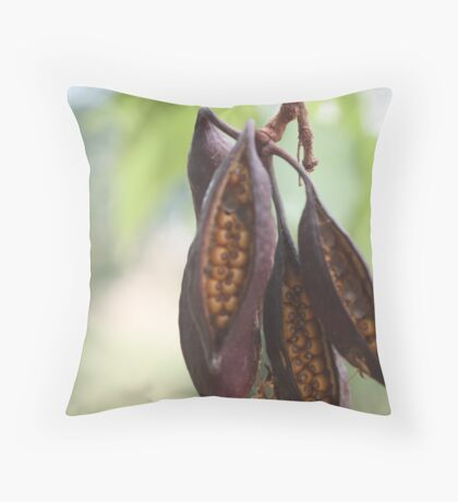 Seeds in a Pod Throw Pillow